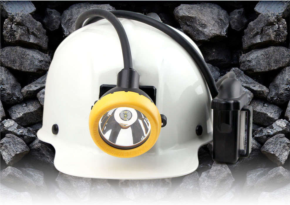Professional LED miner's cap lamp brightness of 11000lx 16hours working time safety reliable long life span of 10000hours. IP68 diving certificated.